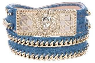Balmain Denim Chain-Link Belt