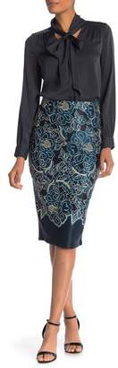 ECI Pull on Floral Printed Skirt