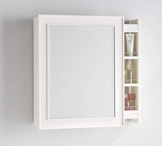 Pottery Barn Classic Side Pull-Out Medicine Cabinet - White