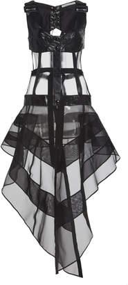 Olivier Theyskens Naper Harness Leather Dress