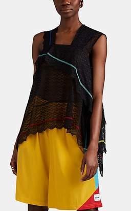 Koché Women's Asymmetric Lace Top - Black