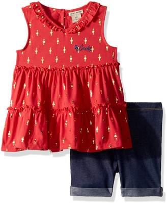 Lucky Brand Toddler Girls' Denim Bermuda Set
