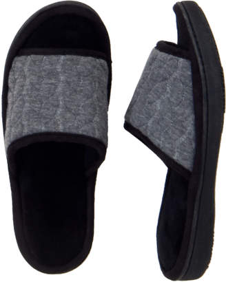 Isotoner Janie Braided Jersey Open Toe Slippers