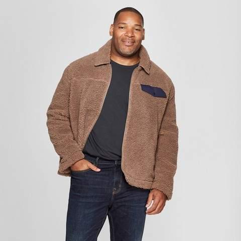 Goodfellow & Co Men's Big & Tall Faux Fur Jacket - Goodfellow & Co Mocha