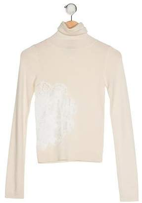 Dolce & Gabbana Lace-Accented Turtleneck Sweater