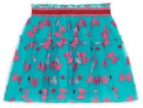 Gucci Little Girl's& Girl's Taffeta Bow Flock Skirt