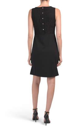 Nicole Miller Sleeveless Lace Bodice Dress