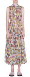 Akris Punto Patchwork Print Sleeveless Maxi Dress
