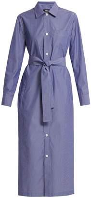 A.P.C. Millie tie-waist striped cotton dress