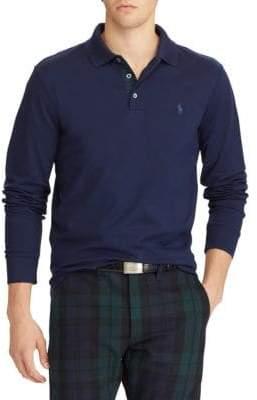 Polo Ralph Lauren Long-Sleeve Mesh Cotton Polo