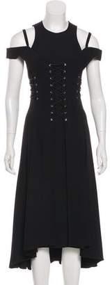 Jason Wu Lace-Up Midi Dress