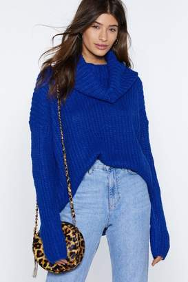 Nasty Gal Let's Face Knit Turtleneck Sweater
