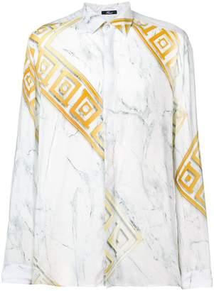 Versace geometric marble print shirt