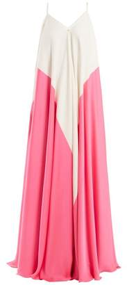 Maison Rabih Kayrouz Two Tone Crepe Dress - Womens - Pink White