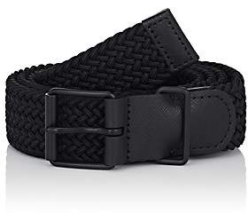 Barneys New York Men's Braided Elastic Belt - Navy