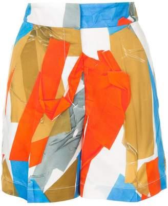 Ports 1961 abstract print shorts