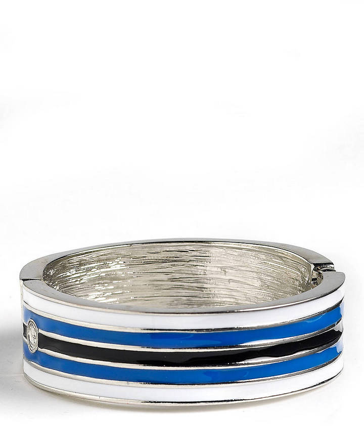 RJ Graziano R. J. GRAZIANO Striped Enamel Hinged Bangle Bracelet