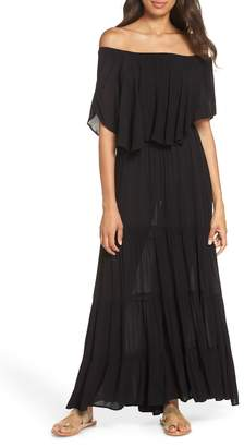 7683b730a458 Elan International Off the Shoulder Ruffle Cover-Up Maxi Dress
