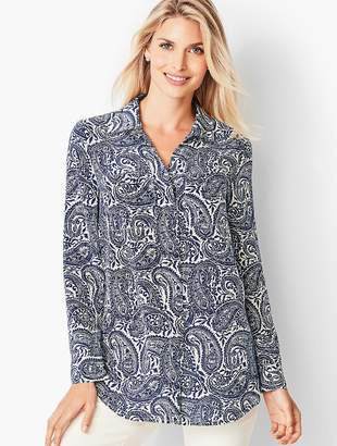 Talbots Washable Silk Top - Paisley