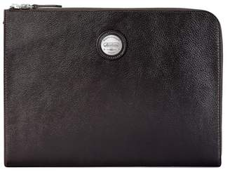 Aspinal of London Aerodrome Zip Folio In Dark Brown Pebble