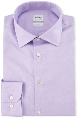 Armani Collezioni Modern-Fit Textured Solid Dress Shirt, Bright Pink $295 thestylecure.com
