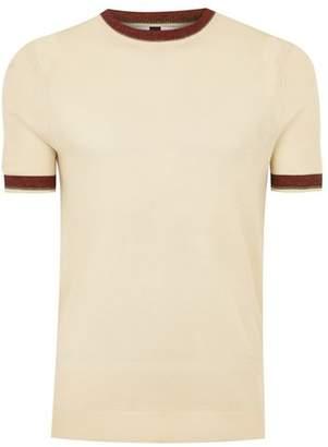 Topman Mens Cream Ecru Tipping Sweater