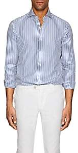Isaia MEN'S STRIPED COTTON POPLIN DRESS SHIRT-STRIPE SIZE XXL