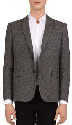The Kooples Felted Herringbone Classic Fit Blazer