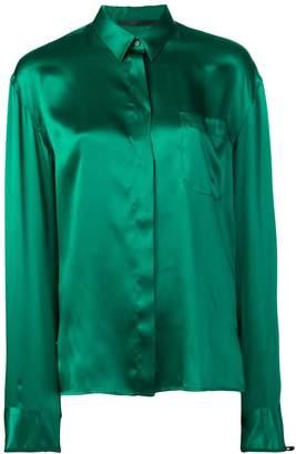 Haider Ackermann classic concealed button shirt