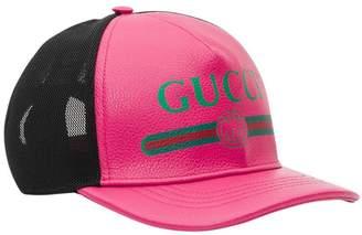 Gucci Print Leather Baseball Hat