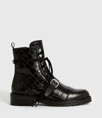 AllSaints Donita Crocodile Boot
