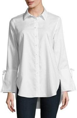 Calvin Klein Lace-Up Cotton Tunic