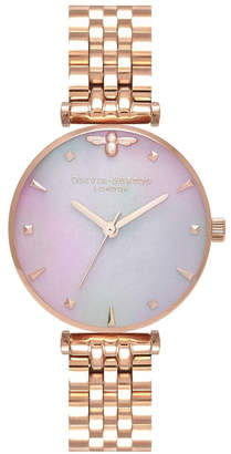 Olivia Burton OB16AM152 Queen Bee Rose Gold & Mother of Pearl Watch