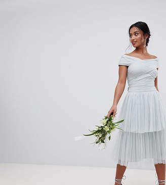 Maya Petite Premium Tulle Layered Maxi Bridesmaid Skirt