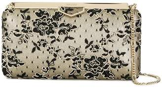 Jimmy Choo floral corded lace clutch