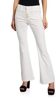 MICHAEL Michael Kors Selma Flare-Leg Button Front Jeans