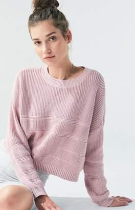 LA Hearts Tonal Stitch Boxy Sweater