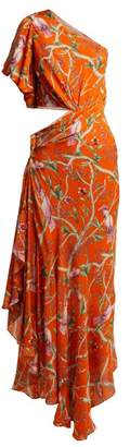 Johanna Ortiz Firefly Silk Georgette Dress - Womens - Orange Multi