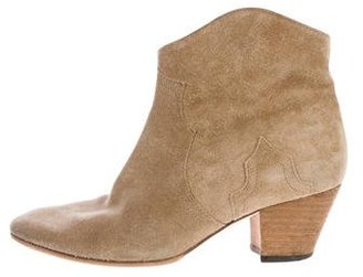 Isabel Marant Dicker Suede Ankle Boots $350 thestylecure.com