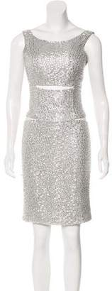 Kaufman Franco KAUFMANFRANCO Embellished Silk Dress
