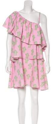 Au Jour Le Jour One-Shoulder Printed Dress w/ Tags