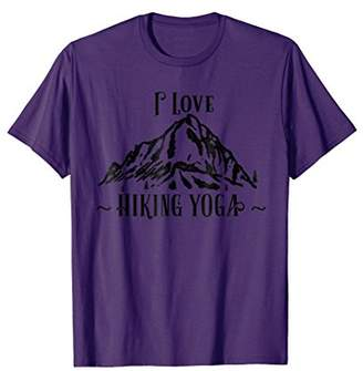 I Love Hiking Yoga T-Shirt (Black Font)