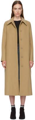 Maison Margiela Beige Long Felted Wool Coat