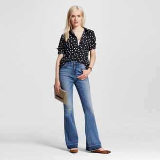 Mossimo Women's High-rise Flare Jeans Medium Wash - Mossimo $29.99 thestylecure.com
