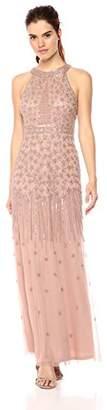 Adrianna Papell Women's Halter Bead Dress