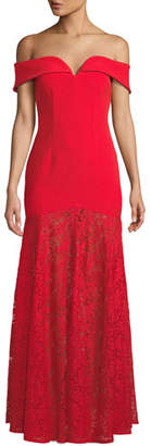 Aijek Lace Sweetheart Maxi Dress