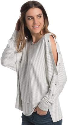 Elan International Off-Sides Button Cold-Shoulder