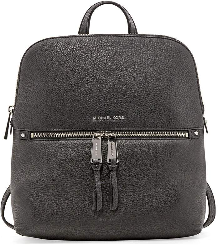 Michael Kors Rhea Medium Slim Backpack- Black - ONE COLOR - STYLE