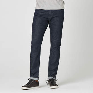 DSTLD Skinny-Slim Jeans in Dark Wash Resin - Grey Stitch