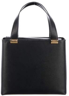 Salvatore Ferragamo Small Leather Handle Tote Black Small Leather Handle Tote